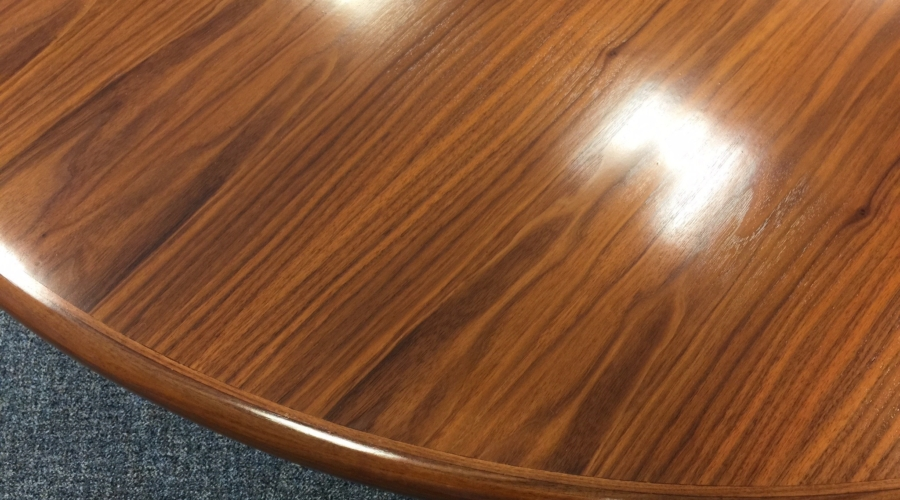 Water marks removed when conference table was refinished
