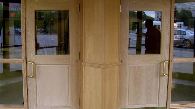 Sun bleached doors