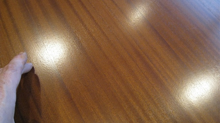 Conference table scratch, after