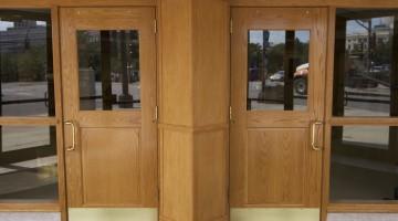 Sun bleached doors, color restored