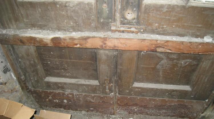 Freight door, before