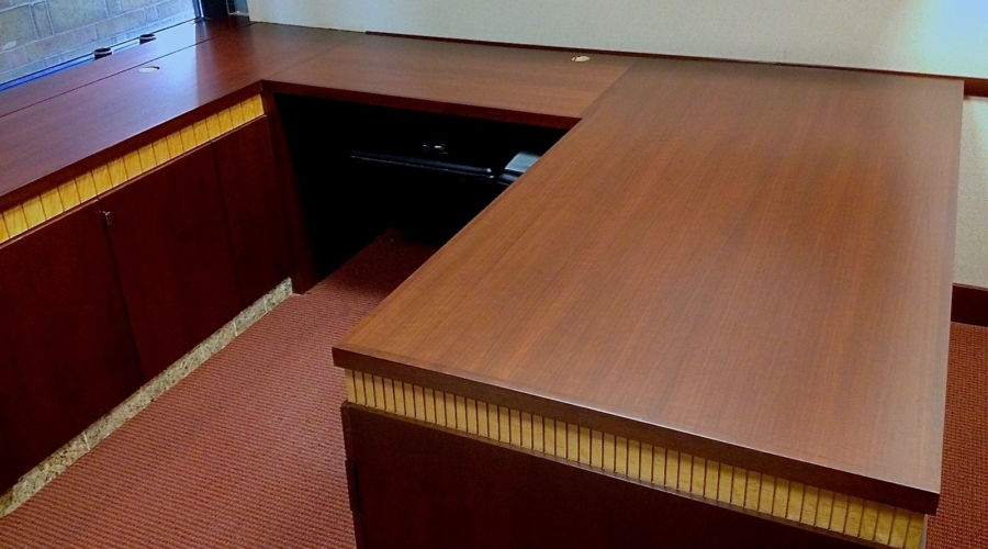Office desk recently refinished