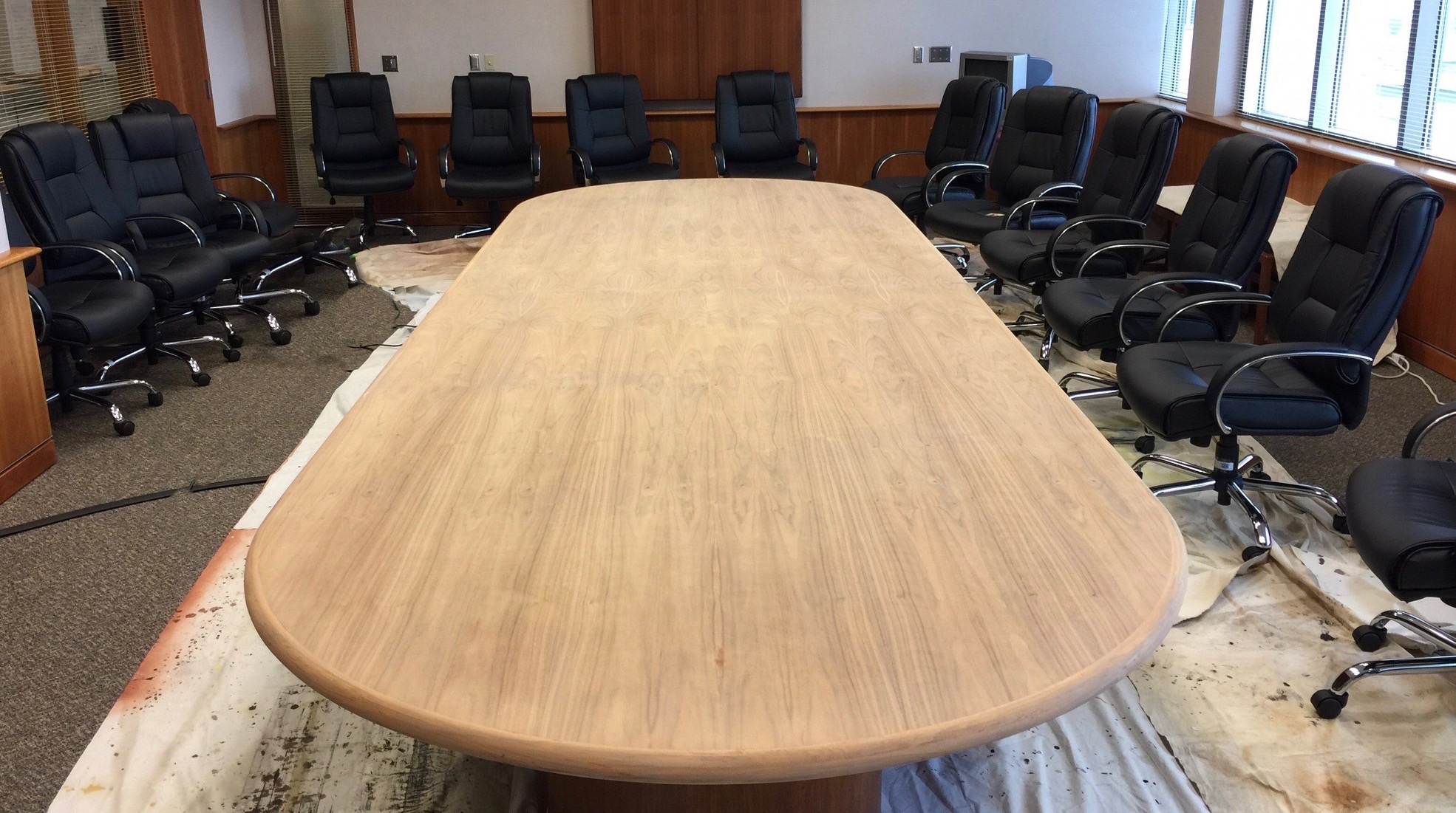 Fresh Air Finishers Has Refinished Many Conference Room Tables. Conference  Room Tables Can Be Very Challenging To Move, Especially If They Have Been  Fitted ...