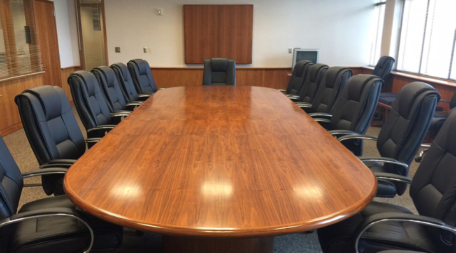 Walnut Conference table recently refinished